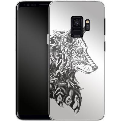 Samsung Galaxy S9 Silikon Handyhuelle - Wolf Profile von BIOWORKZ