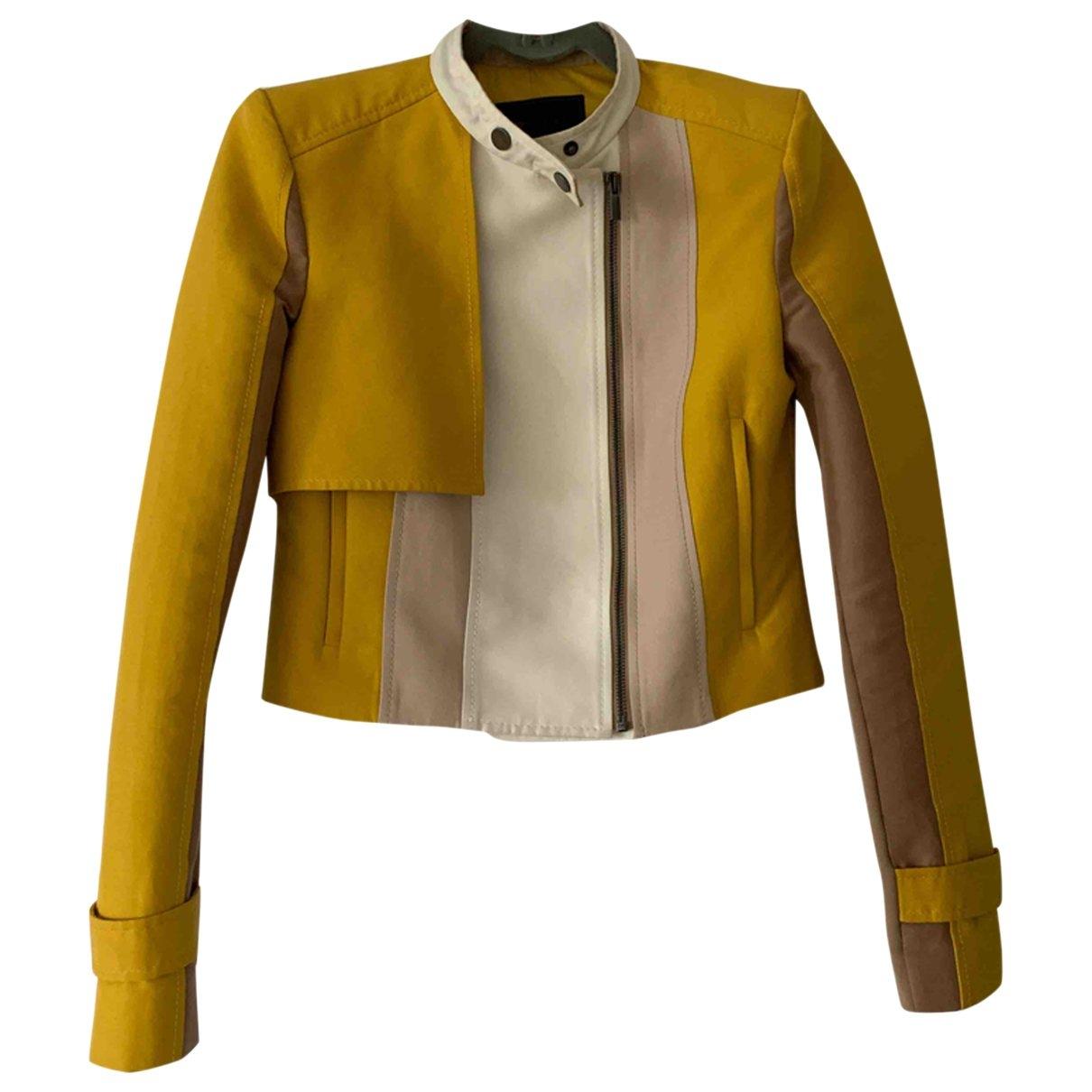 Bcbg Max Azria - Veste   pour femme en coton - jaune
