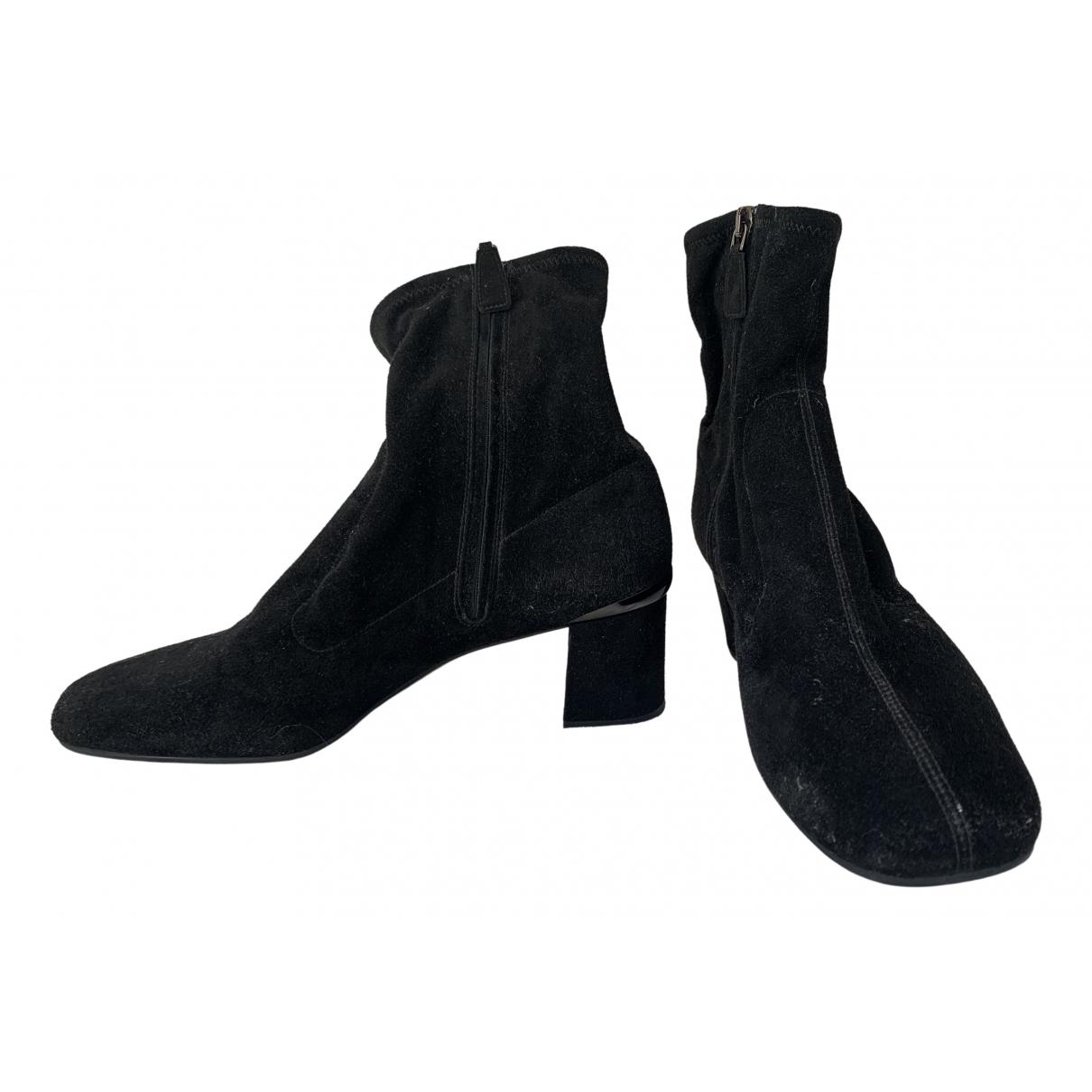 Prada \N Black Velvet Ankle boots for Women 39 EU