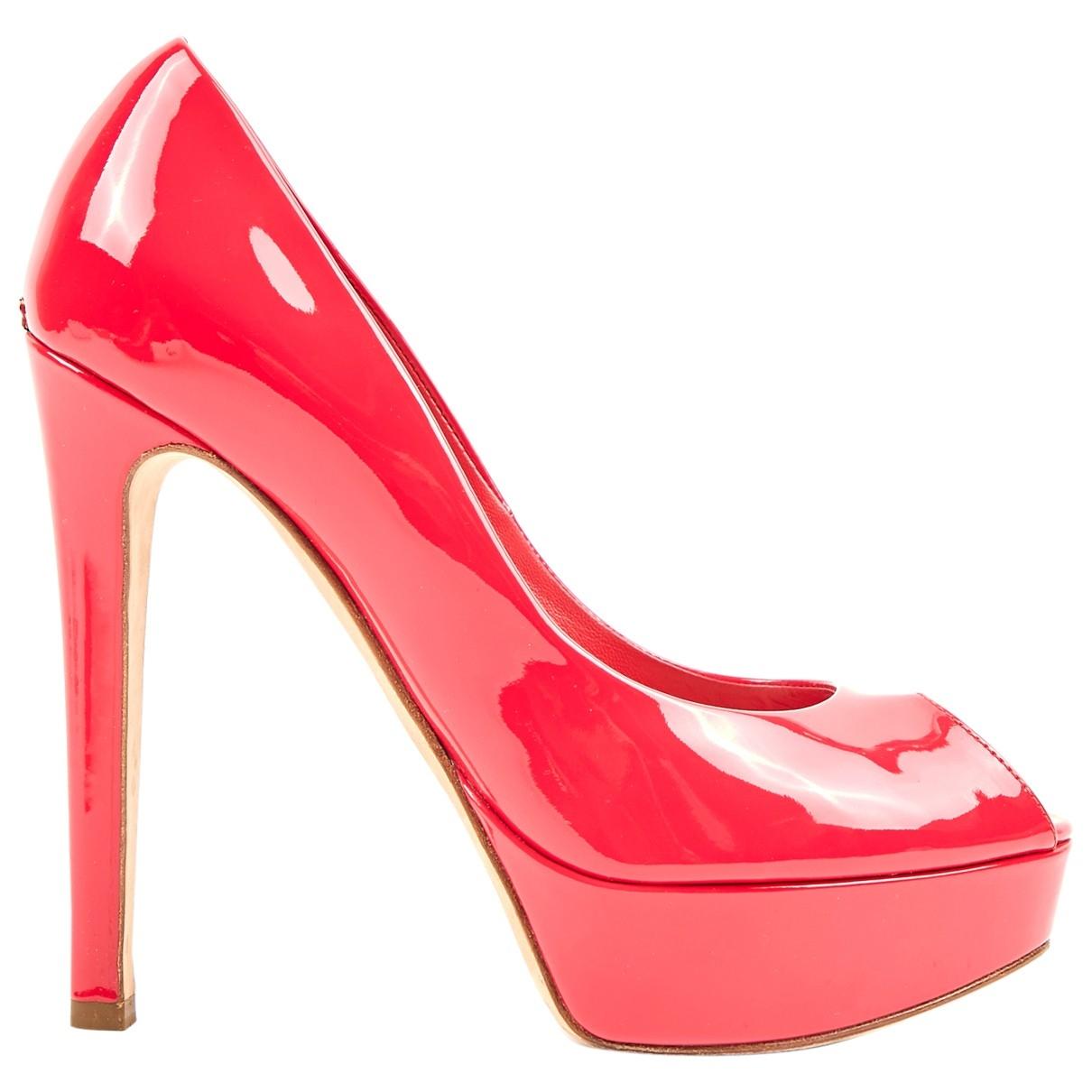 Dior - Escarpins   pour femme en cuir verni - rose
