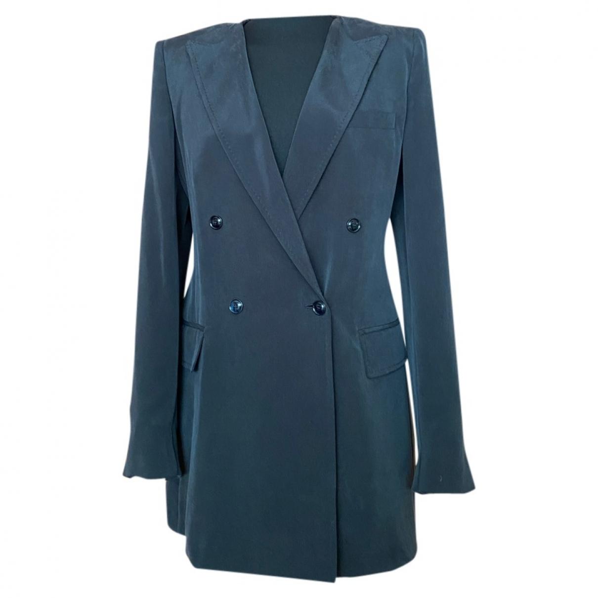 Max Mara \N Anthracite Silk jacket for Women 46 IT