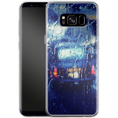 Samsung Galaxy S8 Silikon Handyhuelle - London Taxi In The Rain von Ronya Galka