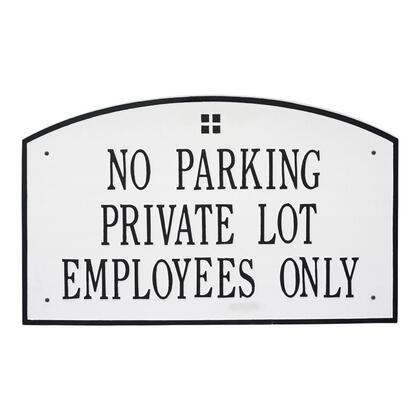 1373WH Extra Large Cape Charles Plaque - Holds up to 3 Lines of Text in White and Black