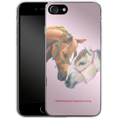 Apple iPhone 7 Silikon Handyhuelle - Pferdefreunde Freundschaft von Pferdefreunde