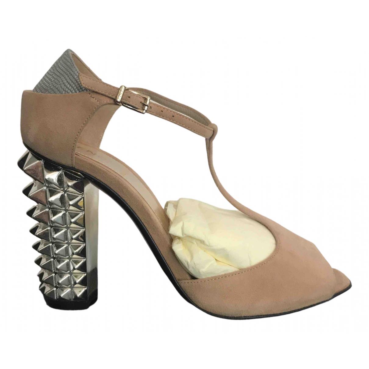 Fendi - Escarpins   pour femme en suede - beige