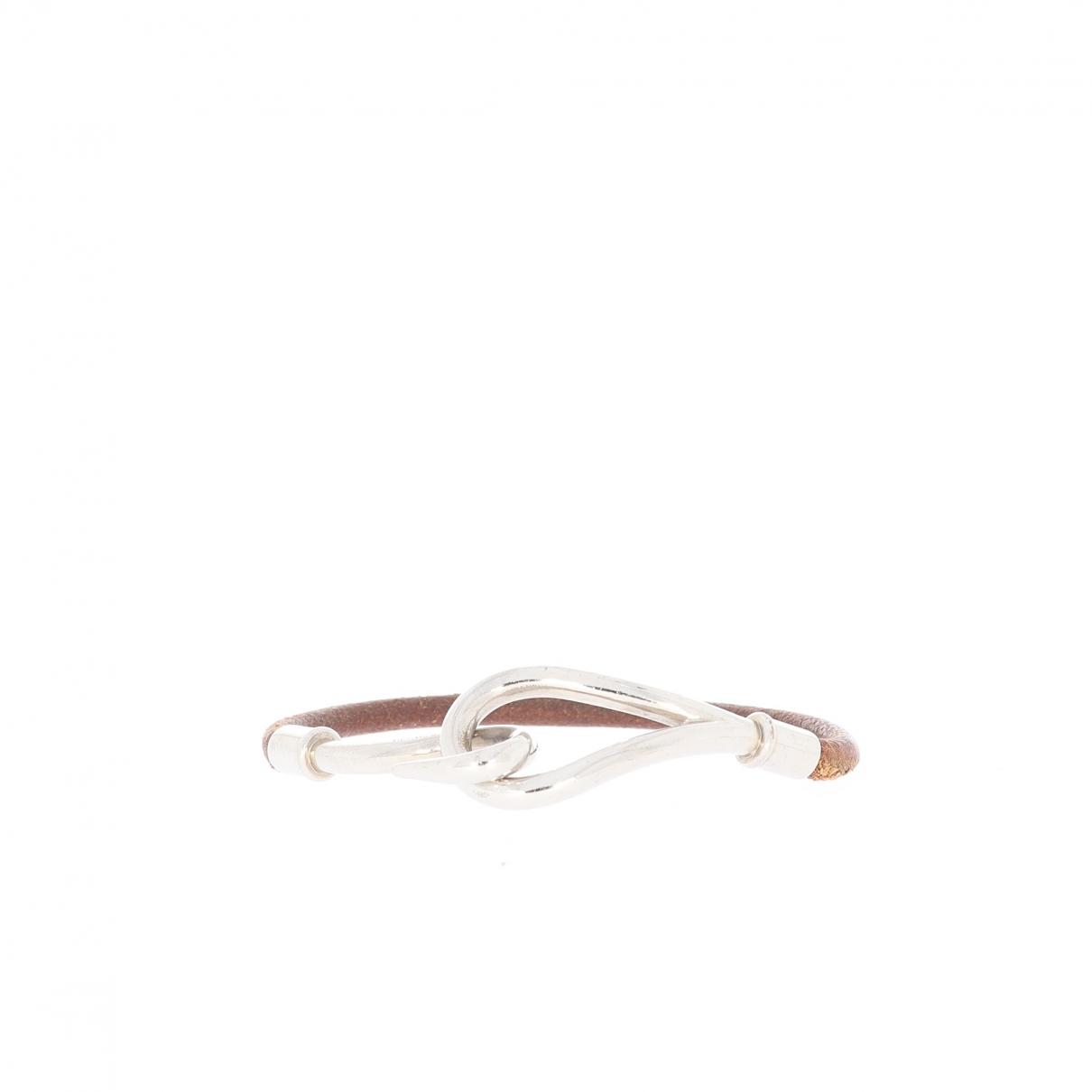 Hermes \N Armband in  Braun Leder