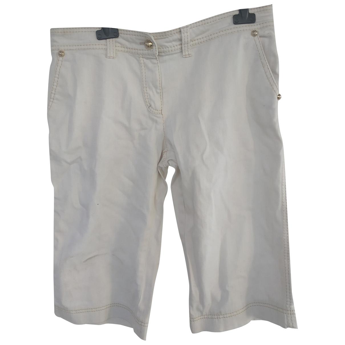 Roberto Cavalli \N White Denim - Jeans Shorts for Women 44 IT
