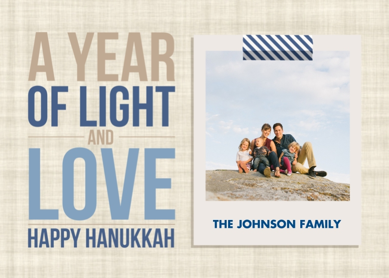 Hanukkah Photo Cards Flat Glossy Photo Paper Cards with Envelopes, 5x7, Card & Stationery -Hanukkah - A Year of Light and Love