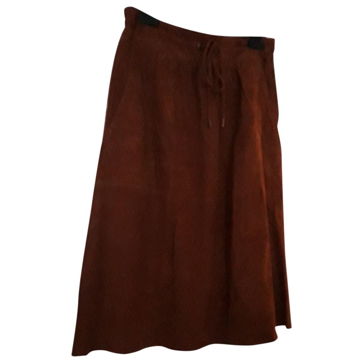Les Petites \N Brown Leather skirt for Women 36 FR