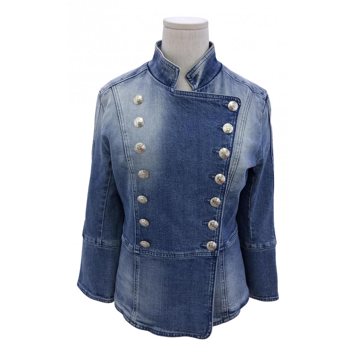 Pierre Balmain N Blue Denim - Jeans jacket for Women 38 IT
