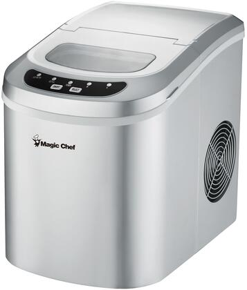 MCIM22SV 10 Portable Ice Maker with Easy Touch Control Pad  Viewing Window  Removable Basket and Ice Scooper in