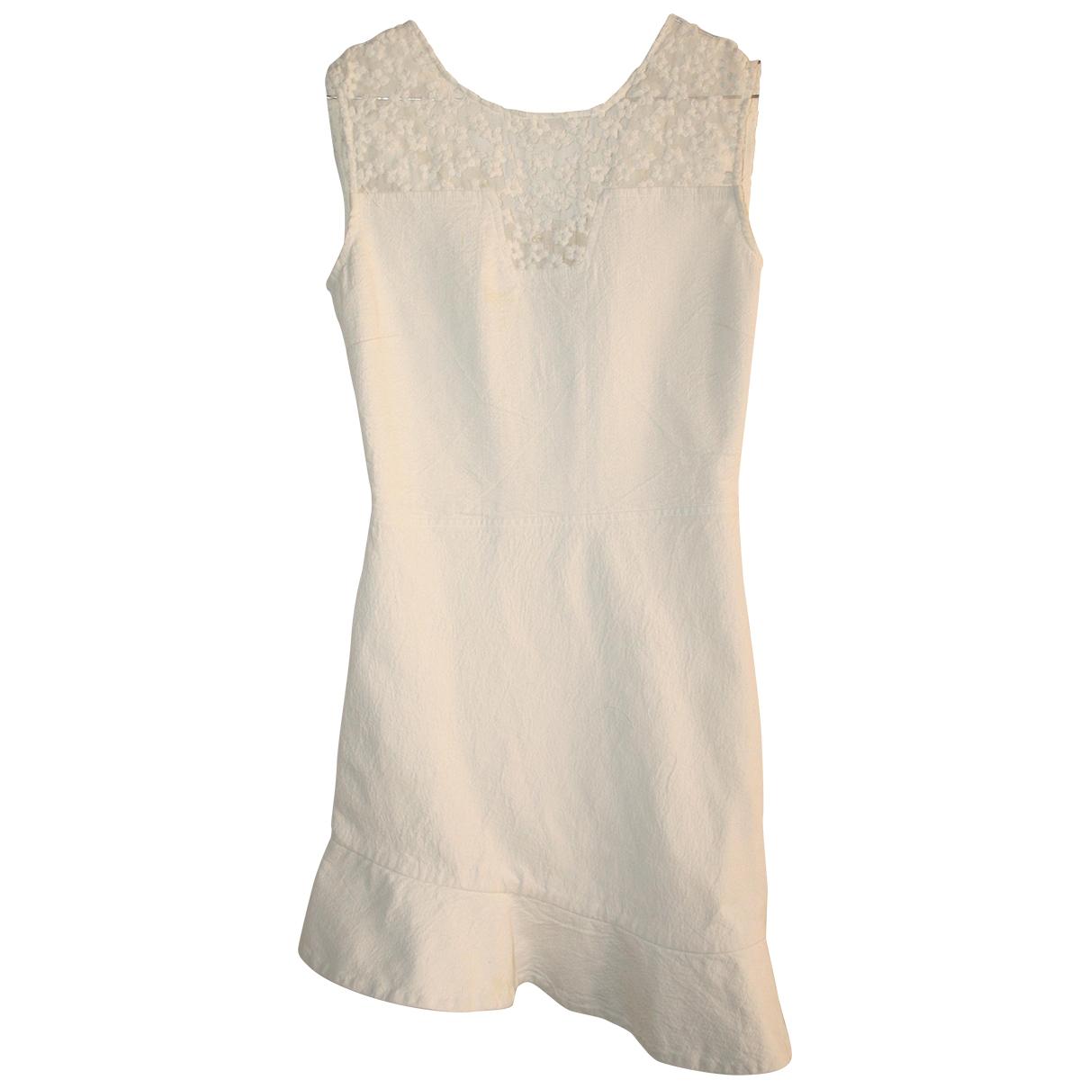 Maje \N Kleid in  Weiss Leinen