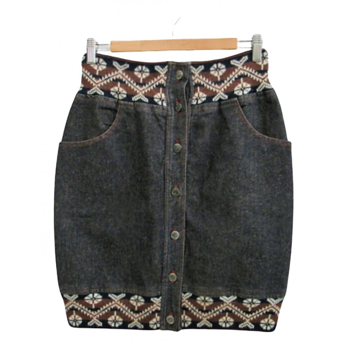 Kenzo \N Rocke in  Grau Denim - Jeans