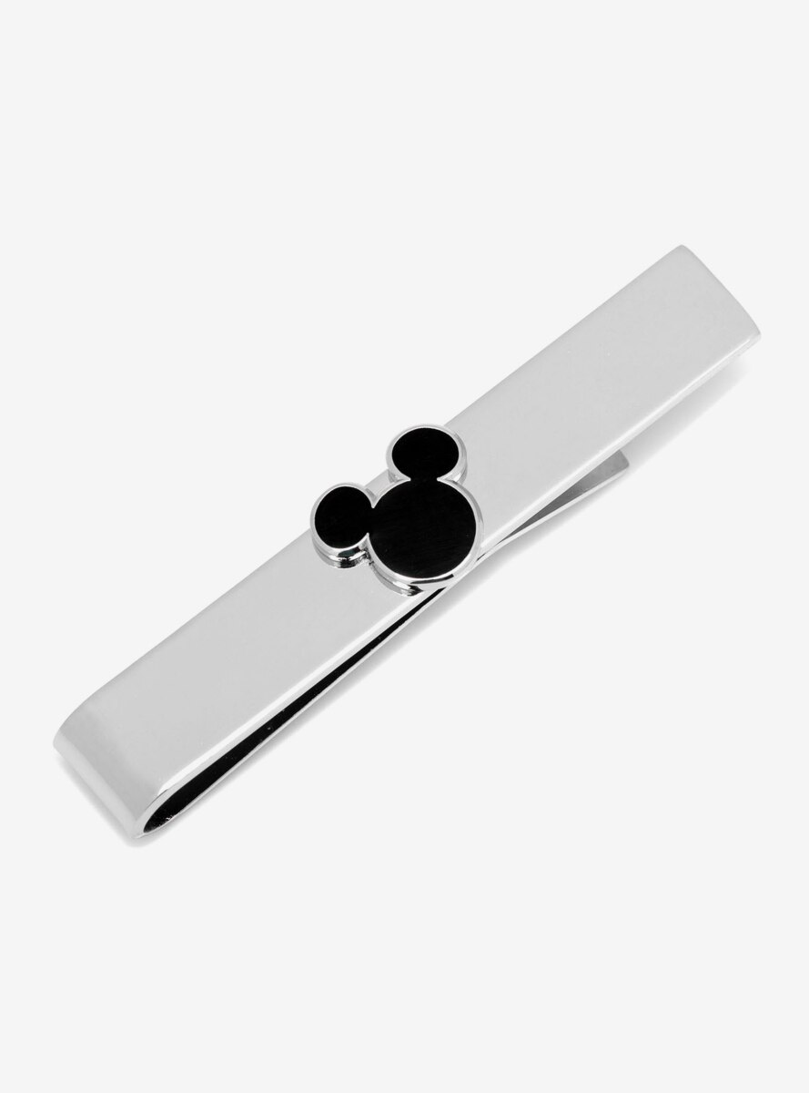Disney Mickey Mouse Black Silhouette Tie Bar