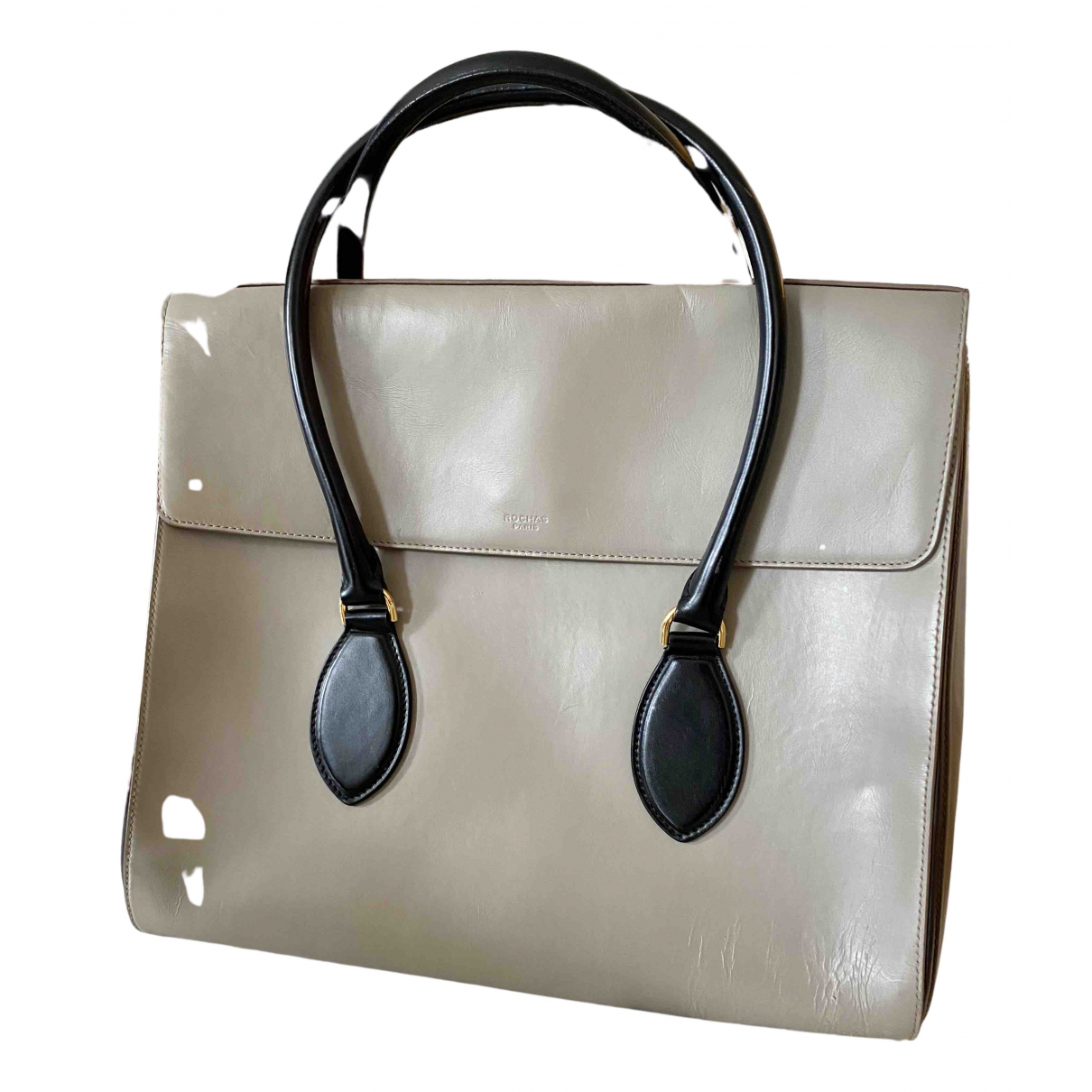 Rochas N Grey Leather handbag for Women N
