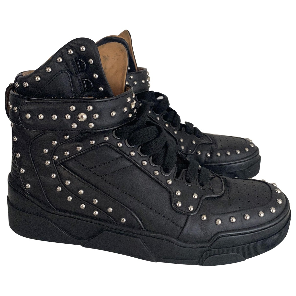 Givenchy Tyson Black Leather Trainers for Men 43 EU