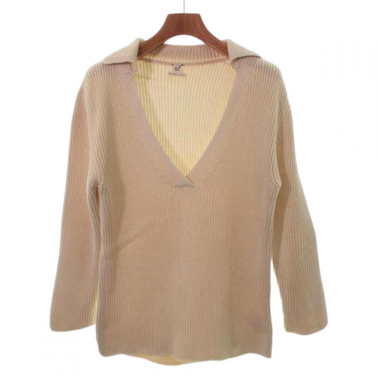 Hermes - Pull   pour femme en soie - beige