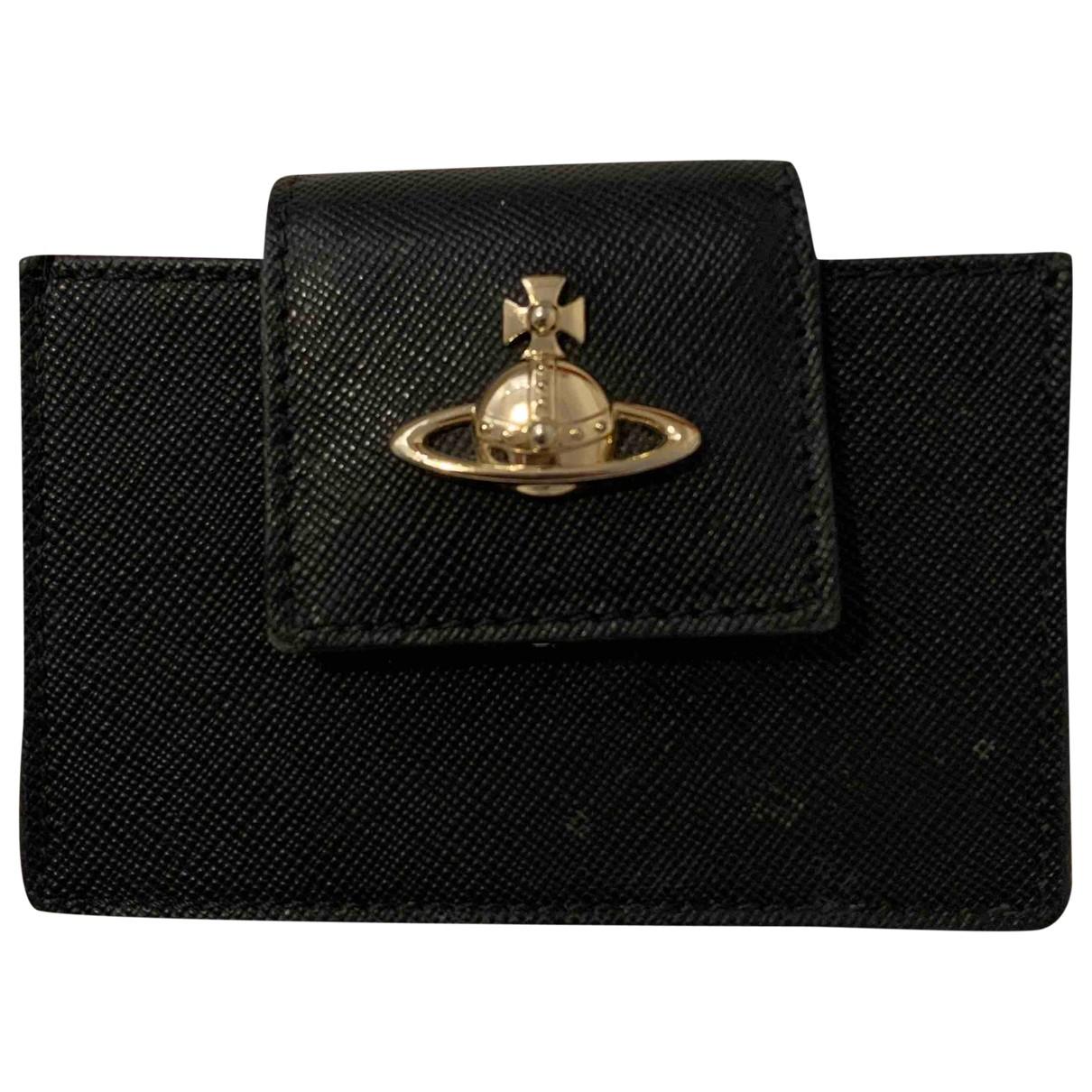 Vivienne Westwood \N Portemonnaie in  Schwarz Leder