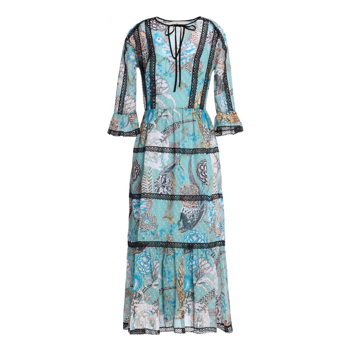 Temperley London \N Kleid in  Tuerkis Polyester