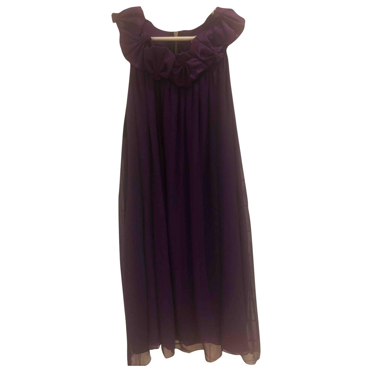 Non Signe / Unsigned \N Kleid in  Lila Seide
