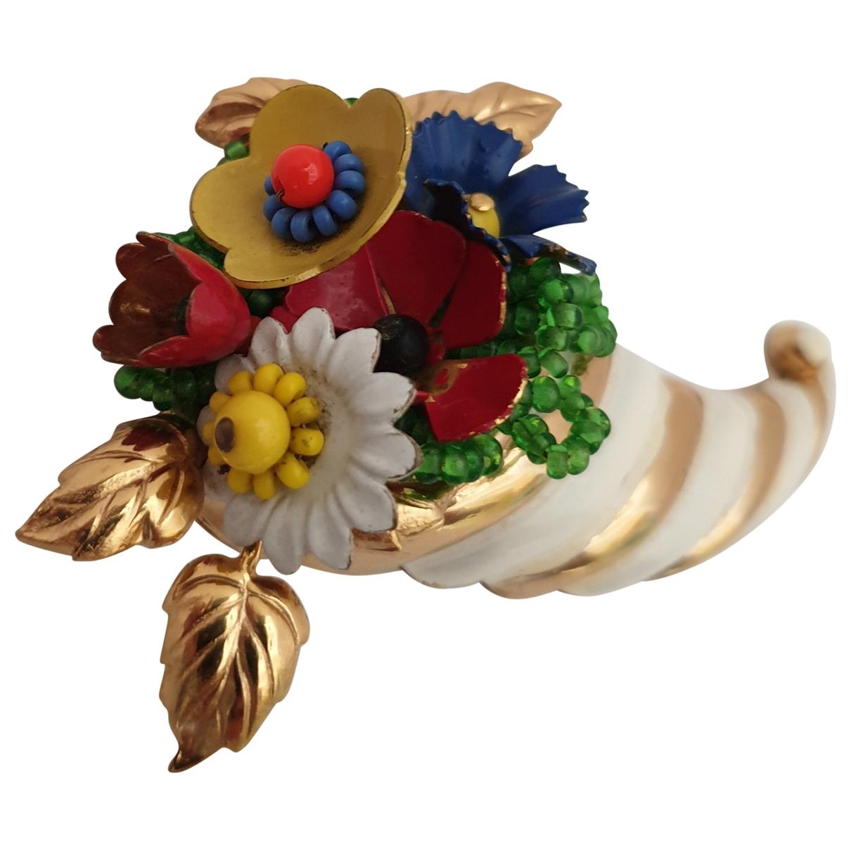 - Broche Motifs Floraux pour femme en metal - multicolore