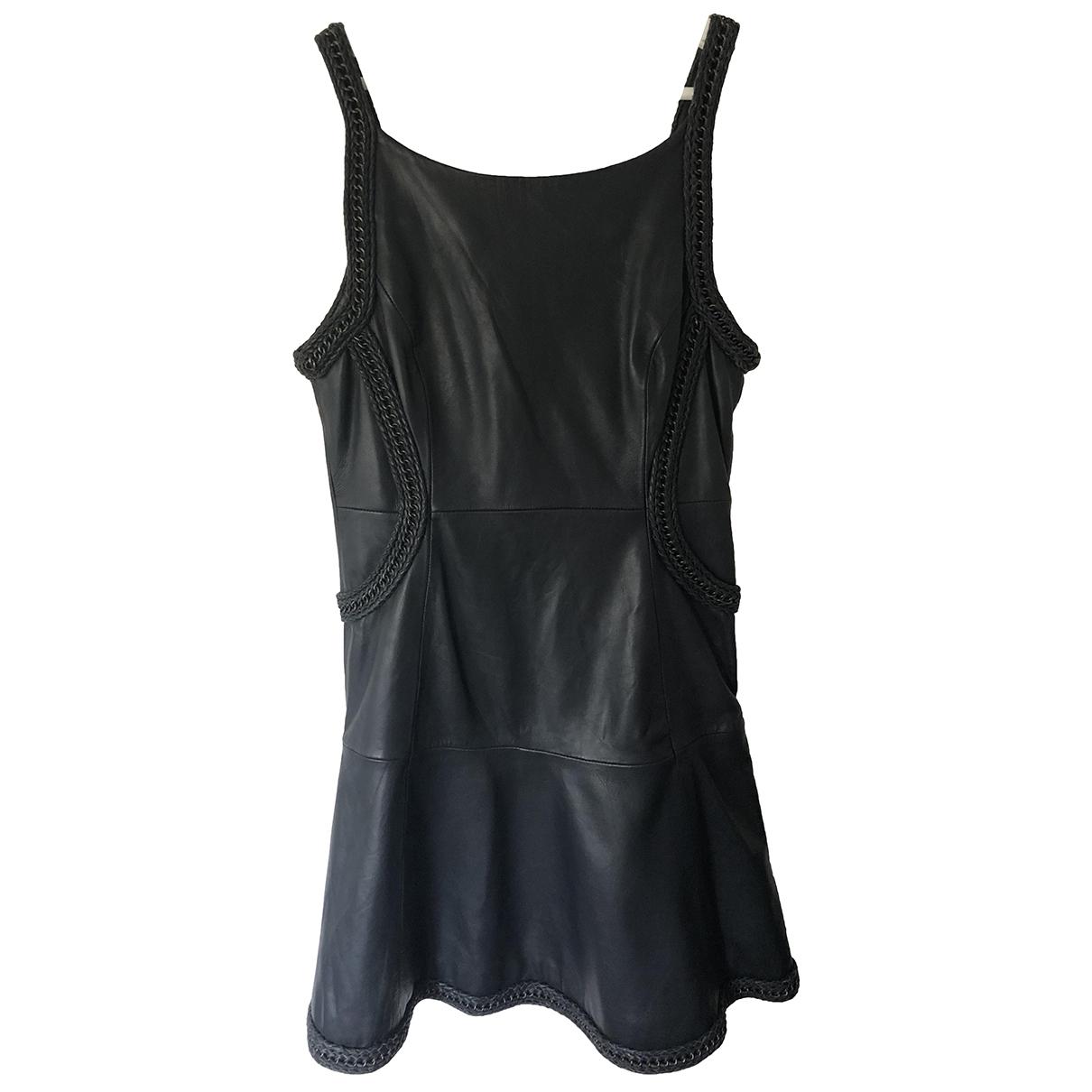 Reiss \N Kleid in  Schwarz Leder