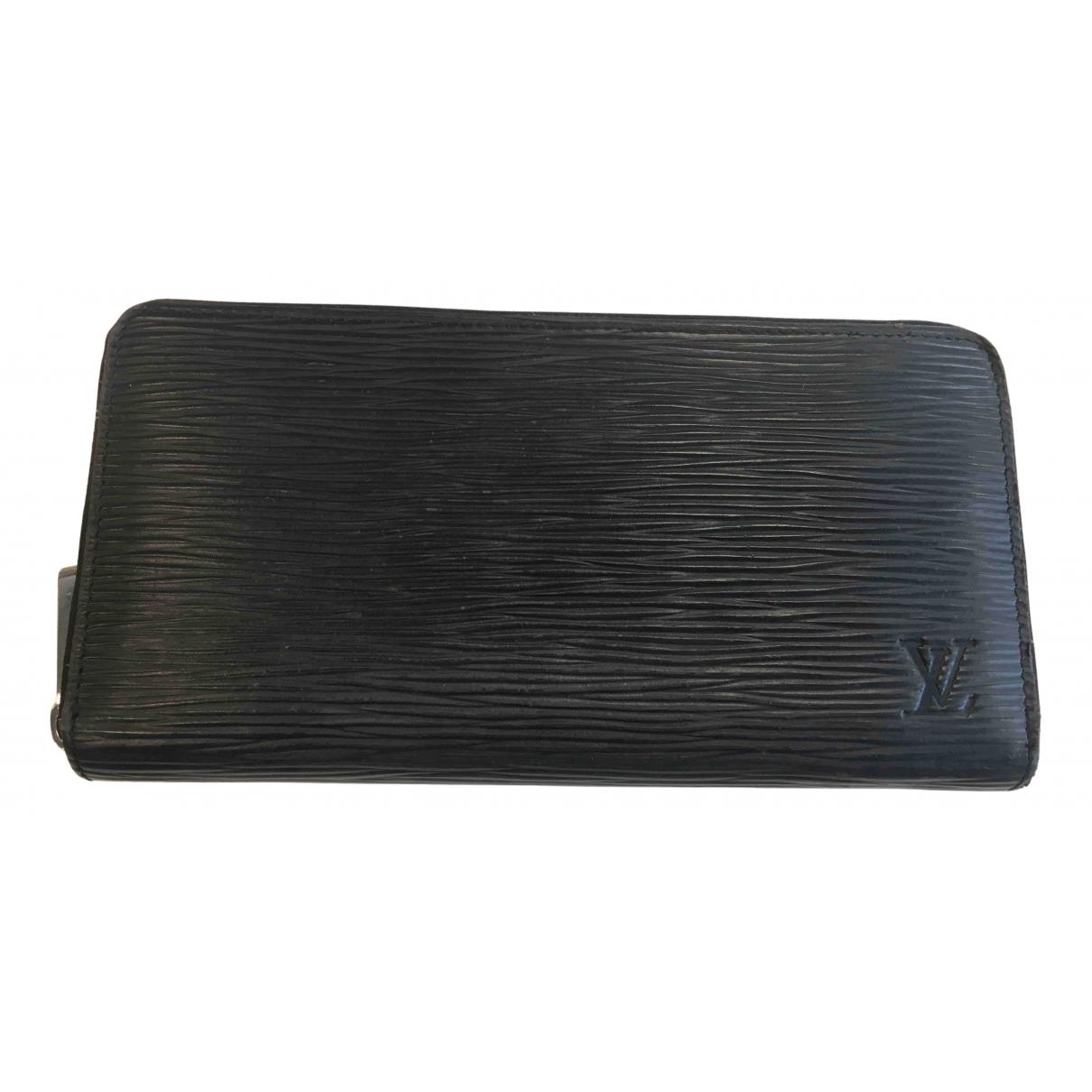 Louis Vuitton - Portefeuille Clemence pour femme en cuir - noir