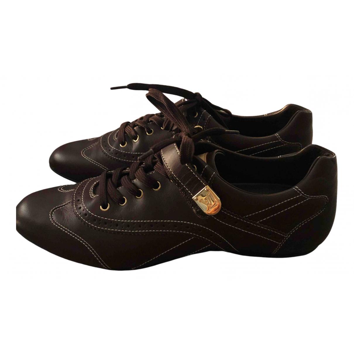 Louis Vuitton - Baskets   pour femme en cuir - marron