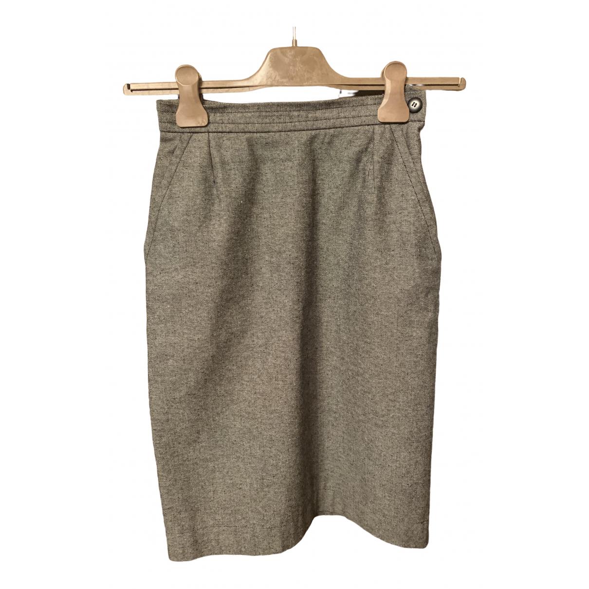 Yves Saint Laurent \N Grey Denim - Jeans skirt for Women 36 FR