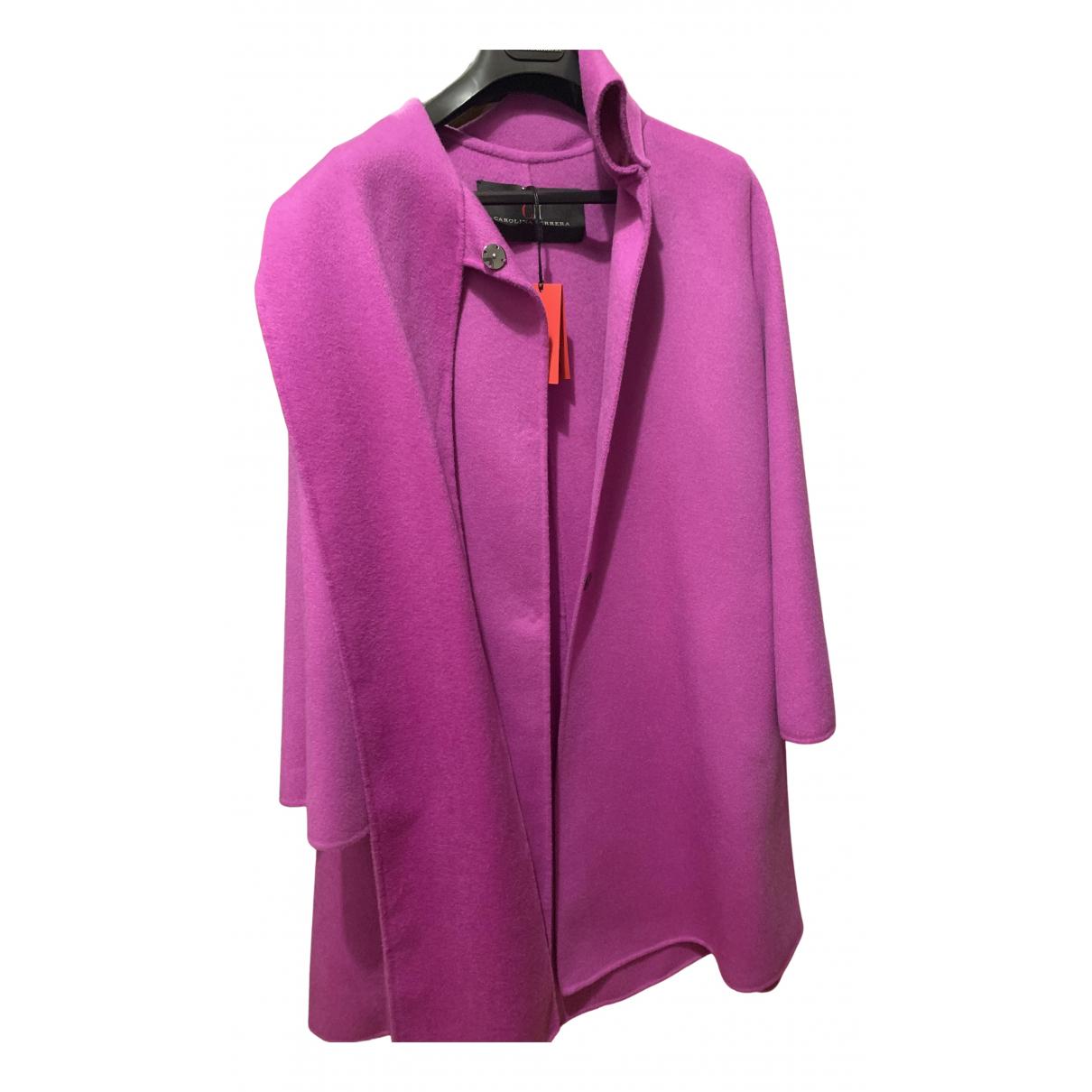 Carolina Herrera - Manteau   pour femme en laine - rose