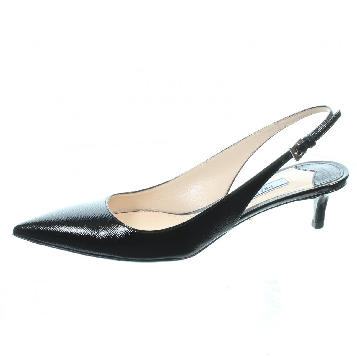 Prada \N Black Patent leather Heels for Women 35.5 EU