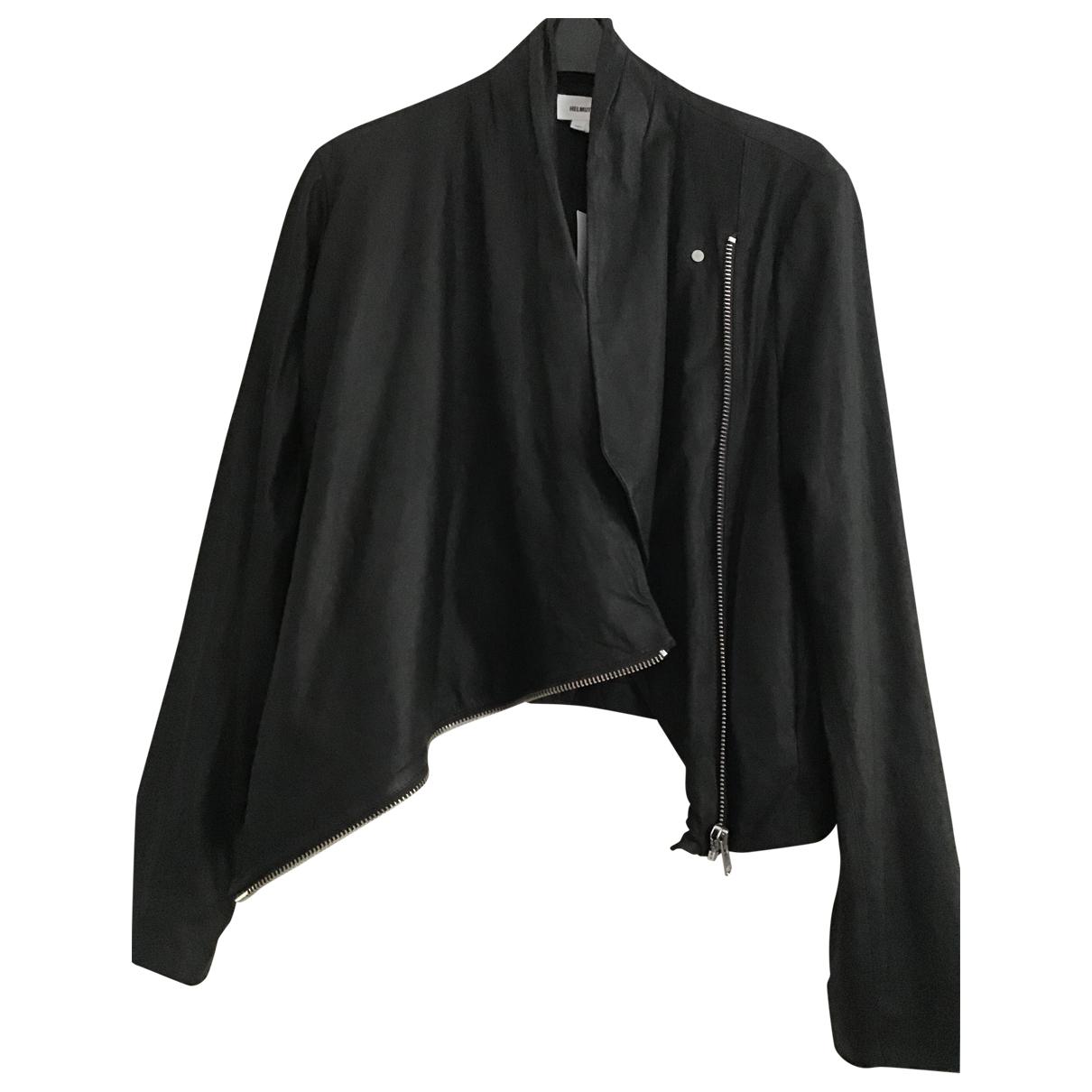 Helmut Lang - Veste   pour femme en cuir - noir