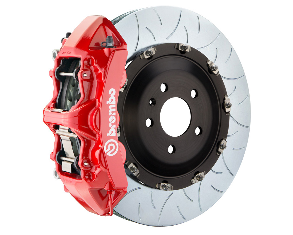 Brembo GT 405x34 2-Piece 6 Piston Red Slotted Type-3 Front Big Brake Kit