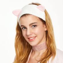Suesse Samt Stirnband Katzen Augen Elatsiche