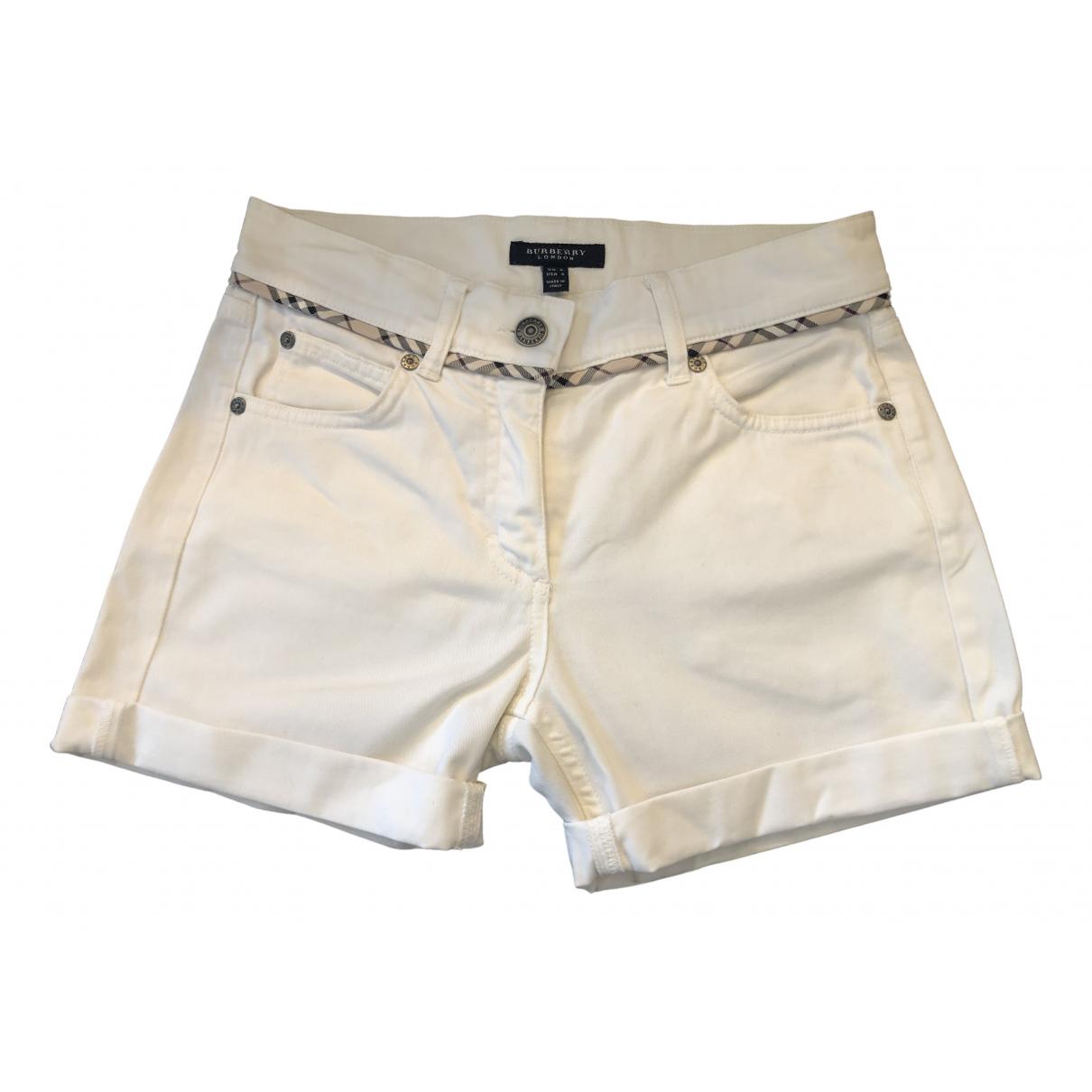 Burberry \N Shorts in  Weiss Baumwolle - Elasthan