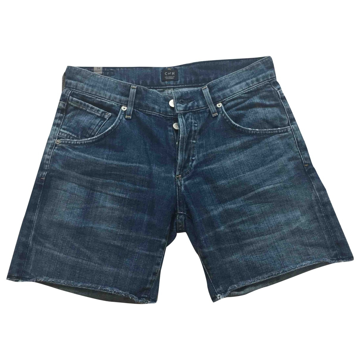 Citizens Of Humanity \N Blue Denim - Jeans Shorts for Women 34 FR