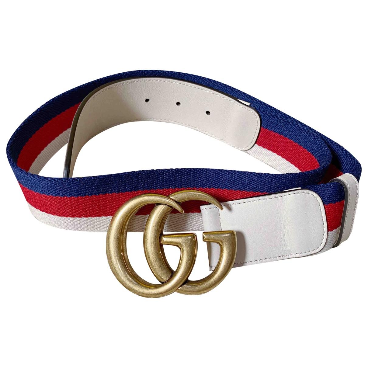 Gucci GG Buckle Multicolour Cloth belt for Women 80 cm