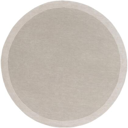 MDS1001-8RD 8' Round Rug  in Light Gray and