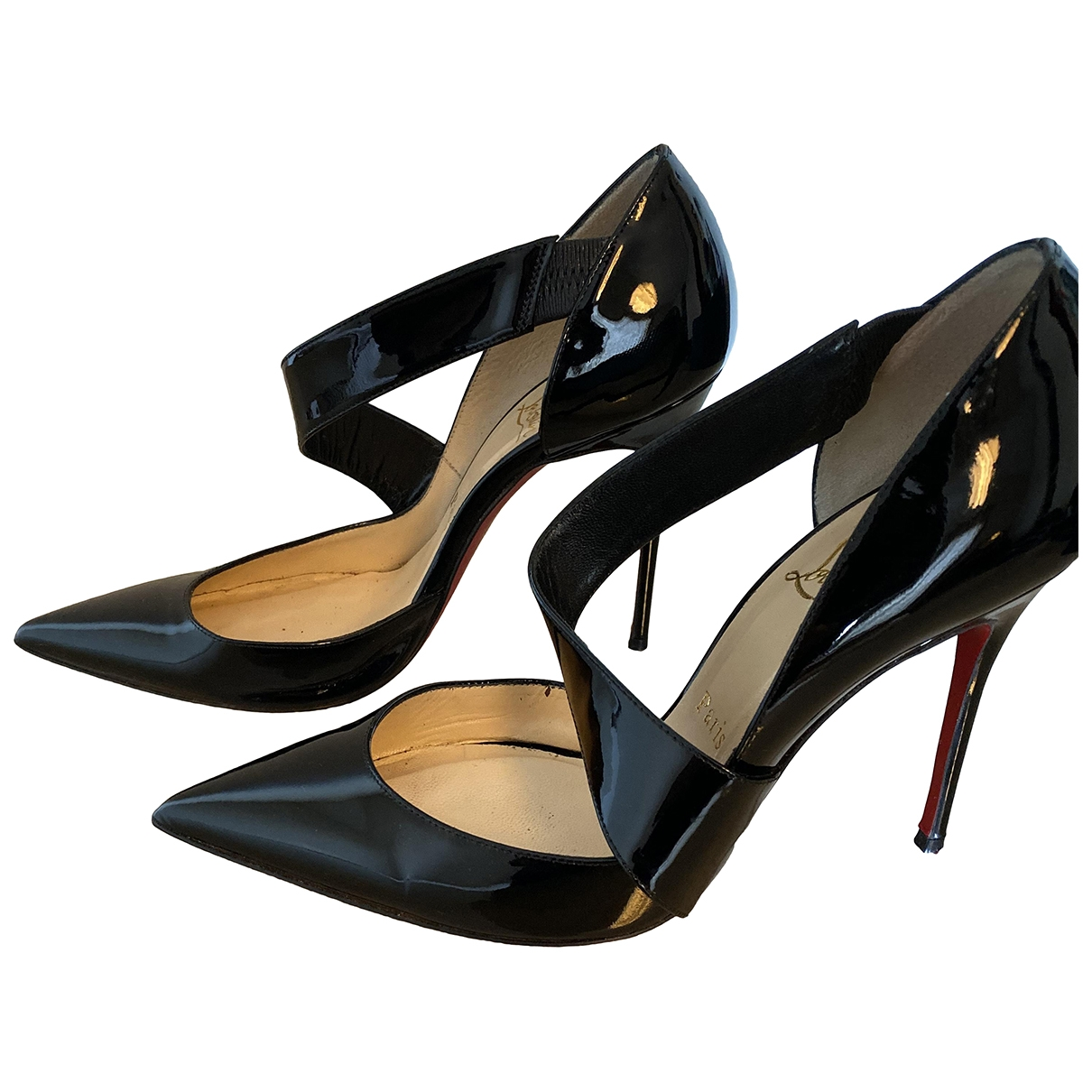 Christian Louboutin \N Black Patent leather Heels for Women 38.5 EU