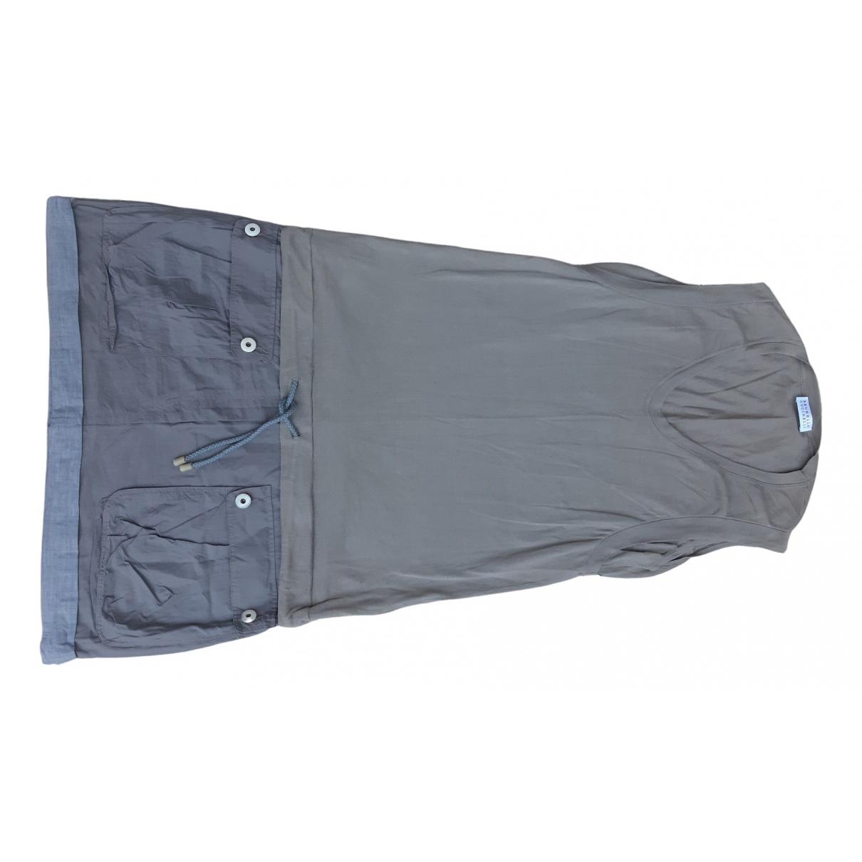 Brunello Cucinelli \N Kleid in  Grau Baumwolle
