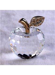 Wonderful Holiday Gift Idea Crystal Apple  Desktop Decoration