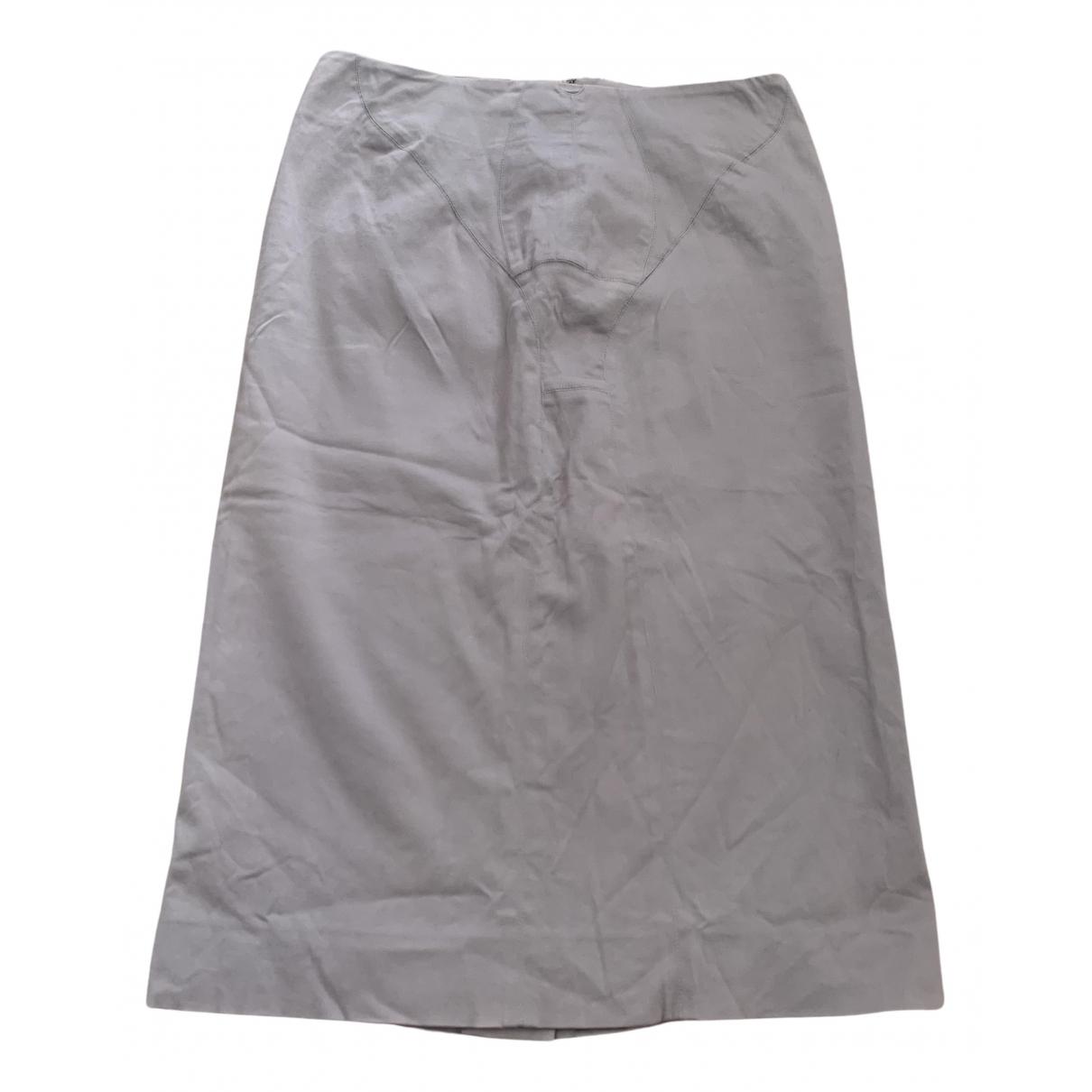 Yves Saint Laurent N Grey Cotton skirt for Women 36 FR
