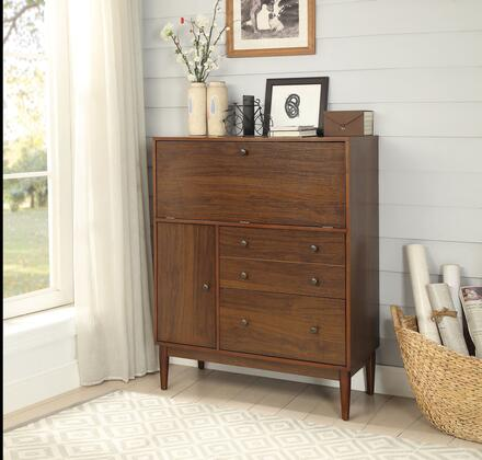 BM194297 Two Drawers Wooden Office Armoire with Drop Down Door Storage and Cabinet
