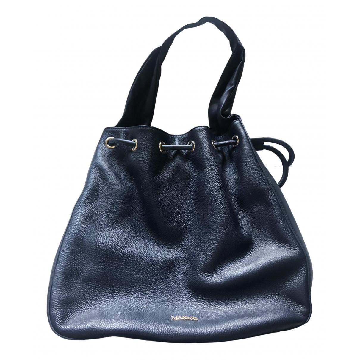 Max & Co \N Navy Leather handbag for Women \N