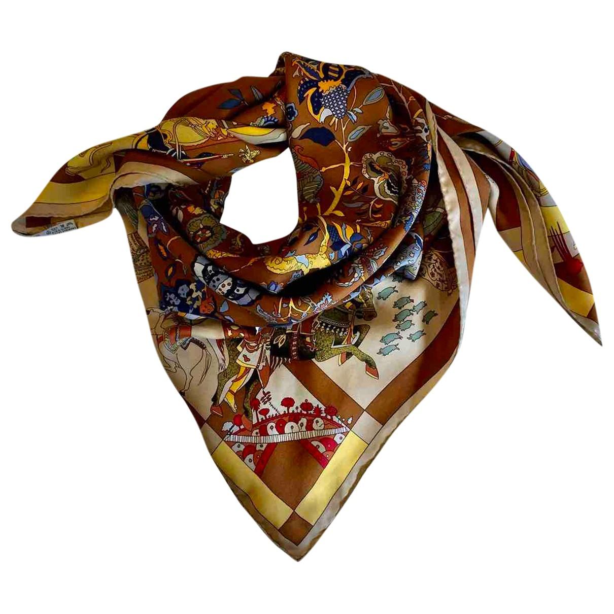 Hermès Carré 90 Camel Silk Silk handkerchief for Women \N
