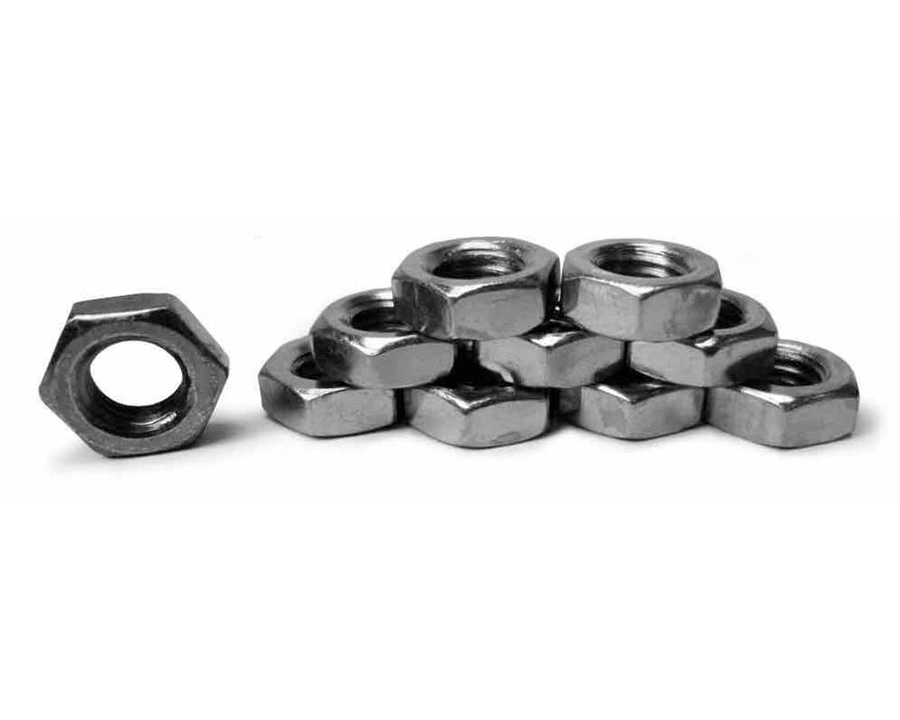 Steinjager J0014414 Nuts Bulk Jam Fasteners, Bulk M16 x 1.50 RH 10 Pack Class 4 Plated Zinc Silver Hex Free