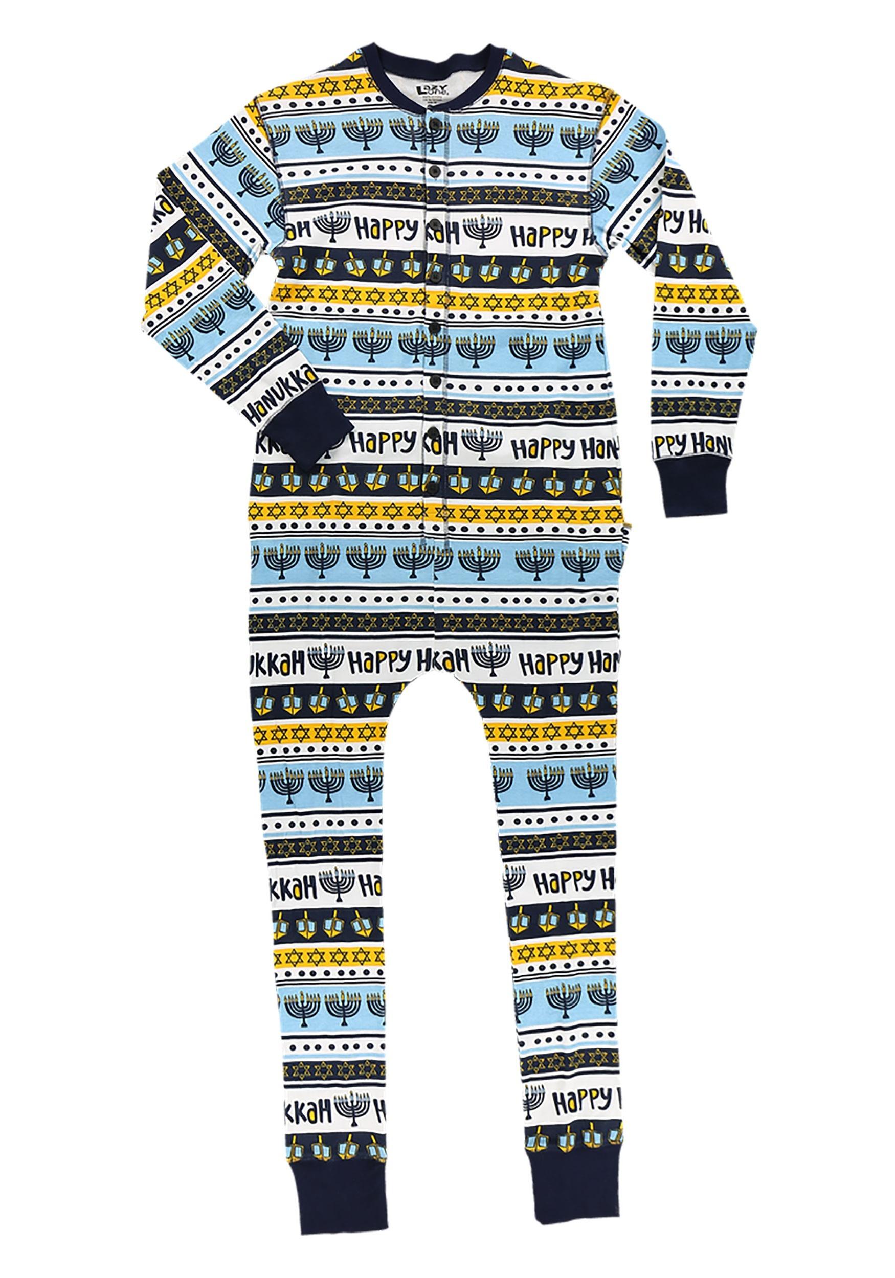 Happy Hanukkah Adult Flapjack Pajamas