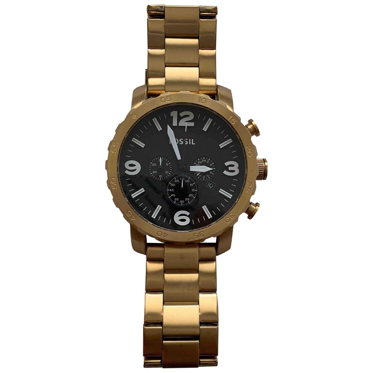 Fossil \N Gold Steel watch for Men \N