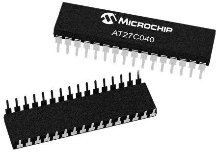 Microchip AT27C040-90PU, EPROM 4Mbit 512K x 8 bit 90ns 32-Pin PDIP (2)