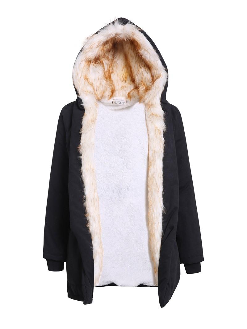 Ericdress Loose Women's Hooded Overcoat